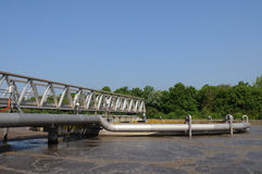 Domestic wastewater treatment in Les Mureaux Stock Image