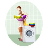 Domestic work Royalty Free Stock Images
