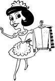 Domestica With Clean Clothes Immagine Stock Libera da Diritti