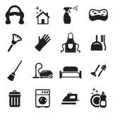 Domestica Icons Fotografia Stock Libera da Diritti