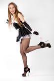 Domestica sexy del francese delle giovani donne. Fotografie Stock