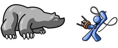 Domesticando o urso ilustração stock