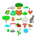 Domesticated animal icons set, cartoon style. Domesticated animal icons set. Cartoon set of 25 domesticated animal vector icons for web isolated on white Royalty Free Illustration
