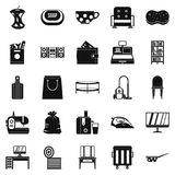 Domesticity icons set, simple style. Domesticity icons set. Simple set of 25 domesticity vector icons for web  on white background Royalty Free Stock Image