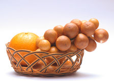 domesticum lansium tangerine zdjęcie stock