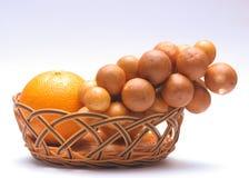 Domesticum y mandarina de Lansium Foto de archivo