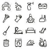 Domestique Icons Freehand Image stock