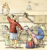 Domestique o tempo ilustração do vetor