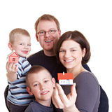 Domicílio familiar novo Imagem de Stock