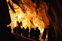 Domica grotta Arkivfoto