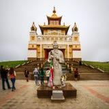Domicilio de oro de Buda Shakyamuni Foto de archivo libre de regalías