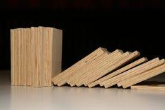 Dominó de madeira Imagem de Stock