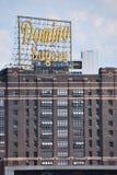 Dominó Sugar Factory en Baltimore, Maryland Imagen de archivo