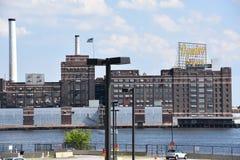 Dominó Sugar Factory en Baltimore, Maryland Foto de archivo libre de regalías