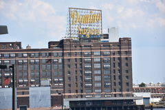 Dominó Sugar Factory en Baltimore, Maryland Fotos de archivo libres de regalías