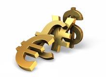 Dominós da moeda Fotografia de Stock