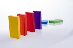 Dominós del color Imagen de archivo libre de regalías