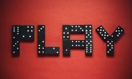 Dominós del juego Imagen de archivo libre de regalías
