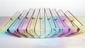 El caer semitransparente de los dominós Foto de archivo libre de regalías