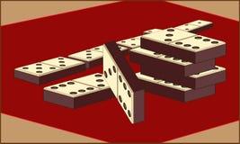 DOMIN kostka do gry DLA gry planszowa royalty ilustracja