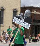 Domina for United States Senate sign in a parade in small town America Royalty Free Stock Photography