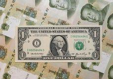 Dominación china - USD-Yuan I. Foto de archivo libre de regalías