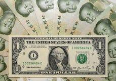 Dominación china - USD-Yuan III. Imagen de archivo