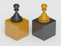 Dominance. Computer generated image  chess pawn figure Royalty Free Stock Photo