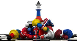 The dominance of the Russian Federation in geopolitics. Concept Stock Photos