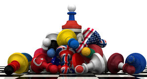 The dominance of the Russian Federation in geopolitics. Concept Stock Photography