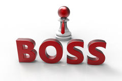 Dominant boss concept Royalty Free Stock Image