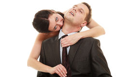 Dominant bride with husband Stock Photography