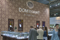 Dominant Diamonds Jewelry Company booth Stock Images