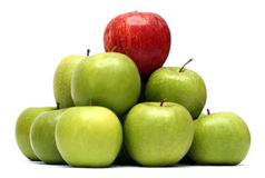 Domination concepts with apples Stock Images