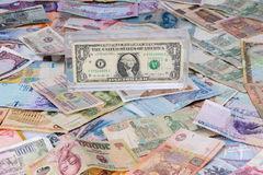 Domination of the dollar over other currencies is Stock Images