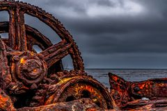 The Dominator Shipwreck, off the coast of Palos Verdes stock photos