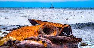 The Dominator Shipwreck, off the coast of Palos Verdes royalty free stock images