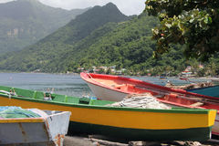 Domincan Boats Royalty Free Stock Photo