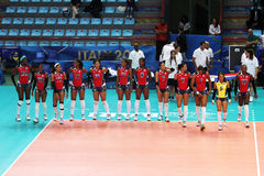 Domincan volley team Stock Images