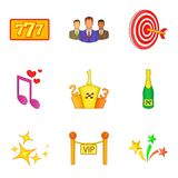 Domine os ícones ajustados, estilo dos desenhos animados Imagem de Stock Royalty Free