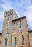 Dominez avec des boucliers chez Piazza Grande d'Arezzo Image libre de droits