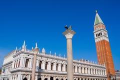 Dominez sur la place du ` s de St Mark à Venise photographie stock libre de droits