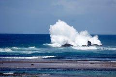 Domingo de manhã na praia de Itapuan Foto de Stock Royalty Free