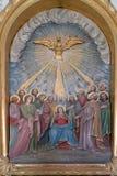 Domingo de Pentecostes, a descida do Espírito Santo imagens de stock royalty free