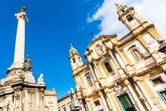 圣Dominic,巴勒莫,意大利教会。 免版税库存照片