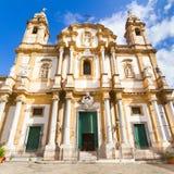 圣Dominic,巴勒莫,意大利教会。 库存照片
