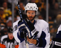 Dominic Moore, Tampa Bay Lightning en avant Images stock