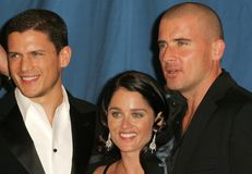 Dominic Purcell,Robin Tunney,Wentworth Miller Royalty Free Stock Images