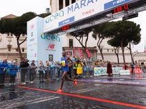 Dominic Ruto Kipngetich wygrywa po drugie miejsce przy 23 ^ Rzym maratonem Zdjęcie Royalty Free
