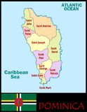 Dominica Administrative divisions Stock Image